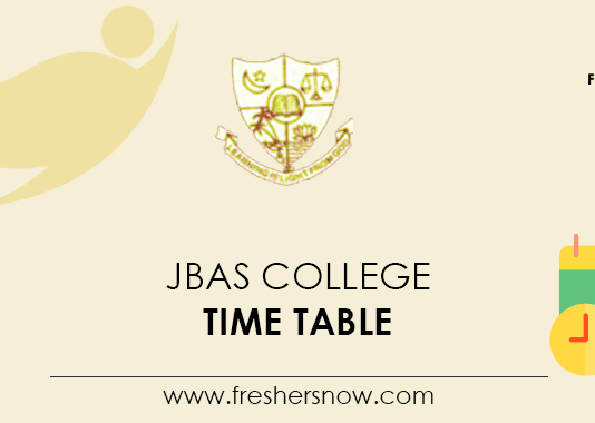 JBAS College Time Table