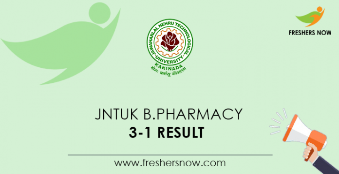 JNTUK-B.Pharmacy-3-1-Result