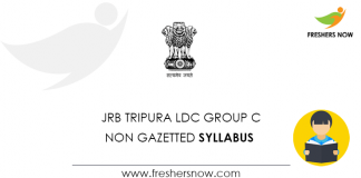JRB Tripura LDC Group C Syllabus