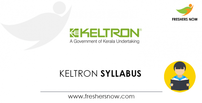 KELTRON Engineer Trainee, Officer, Assistant Manager Syllabus 2020
