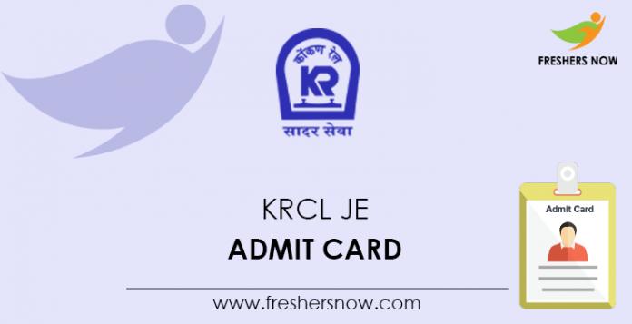 KRCL-JE-Admit-Card