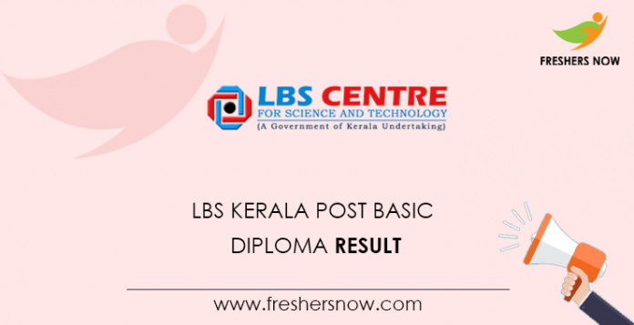 LBS Kerala Post Basic Diploma Result
