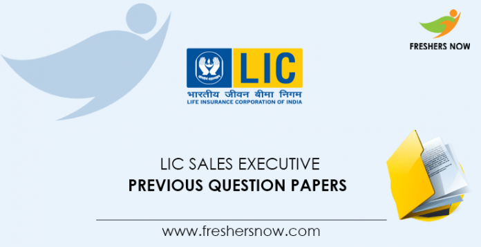 LIC Sales Executive Previous Question Papers