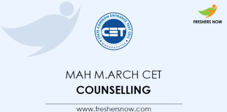MAH M.Arch CET Counselling