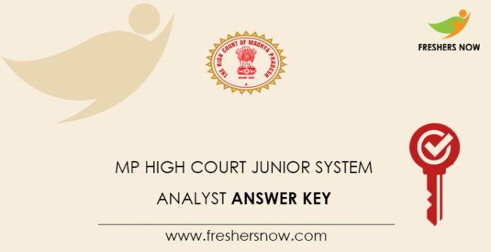 MP High Court Junior System Analyst Answer Key