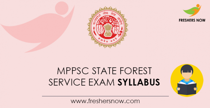 MPPSC State Forest Service Exam Syllabus