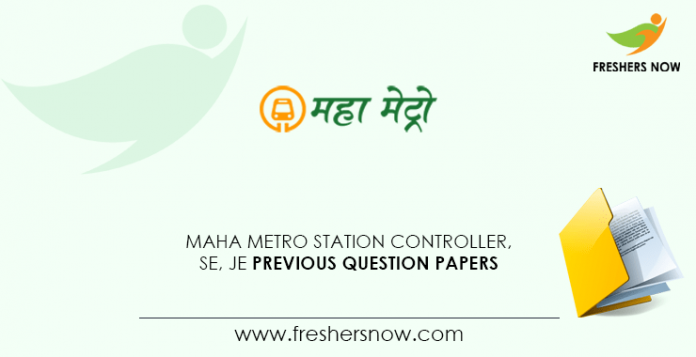 Maha Metro RCL Station Controller Previous Question Papers