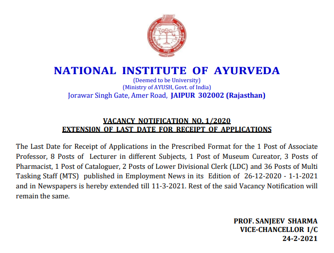NIA Extended Notice
