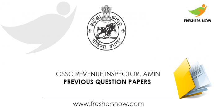 OSSC Revenue Inspector, Amin Previous Question Papers