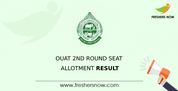 OUAT 2nd Round Seat Allotment Result