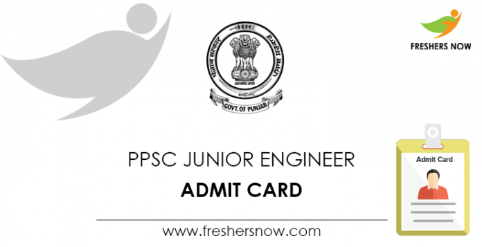 PPSC Junior Engineer Admit Card