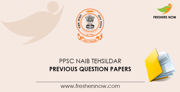 PPSC Naib Tehsildar Previous Question Papers