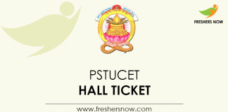 PSTUCET Hall Ticket