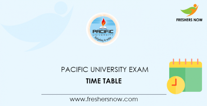 Pacific University Exam Time Table