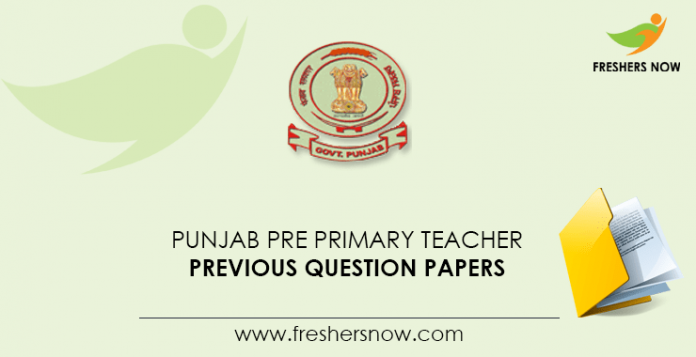 Punjab Pre Primary Teacher Previous Question Papers
