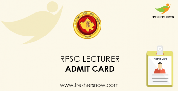 RPSC-Lecturer-Admit-Card