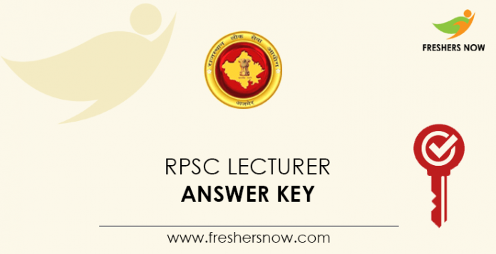RPSC-Lecturer-Answer-Key