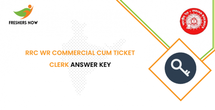 RRC WR Commercial cum Ticket Clerk Answer Key