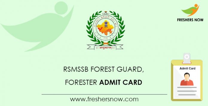 RSMSSB-Forest-Guard,-Forester-Admit-Card