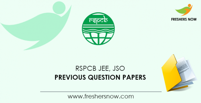 RSPCB JEE, JSO Previous Question Papers