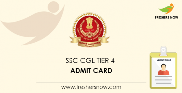 SSC CGL Tier 4 Admit Card