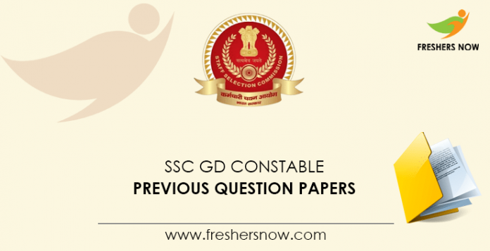 SSC GD Constable Previous Question Papers