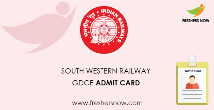 South Western Railway GDCE Admission Card