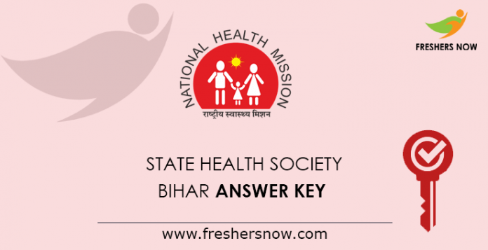 Bihar Answer Key from the State Health Society