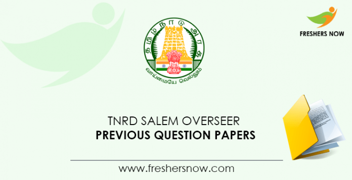 TNRD Salem Overseer Previous Question Papers