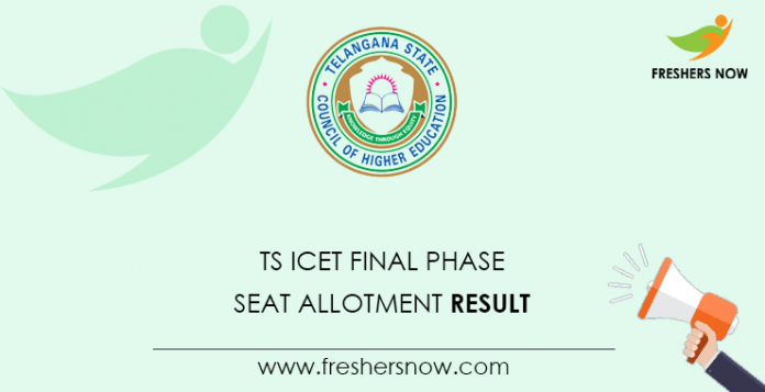 TS ICET Final Phase Seat Allotment Result