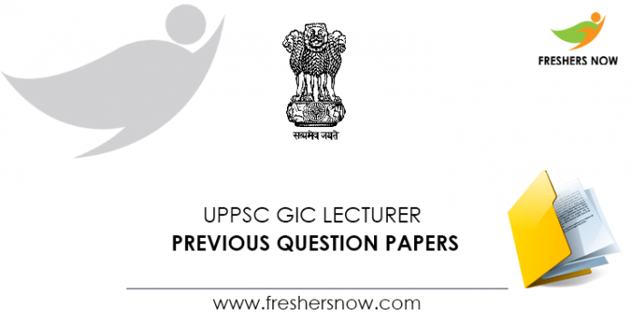 UPPSC GIC Lecturer Previous Question Papers