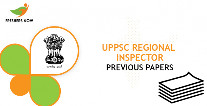 UPPSC Regional Inspector Previous Question Papers