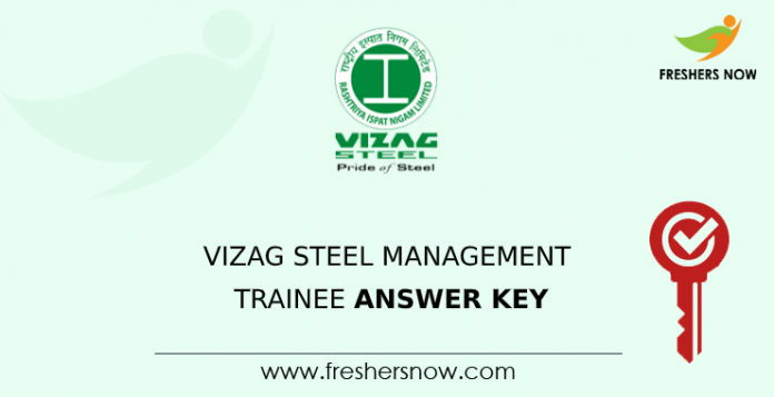 Vizag Steel Management Trainee Answer Key