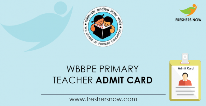 WBBPE Primary Teacher Admit Card
