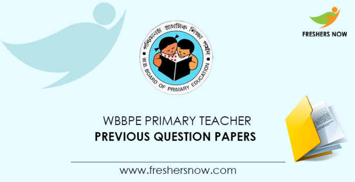 WBBPE Primary Teacher Previous Question Papers