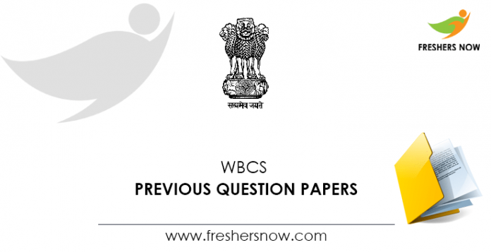 WBCS Previous Question Papers