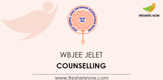 WBJEE JELET Counselling
