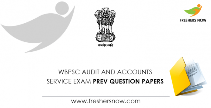 WBPSC Audit and Accounts Service Exam Previous Question Papers