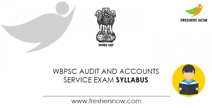 WBPSC Audit and Accounts Service Exam Syllabus