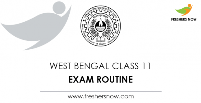 West Bengal Class 11 Exam Routine