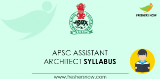 APSC Assistant Architect Syllabus