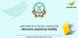 Air Force School Gwalior Previous Question Papers
