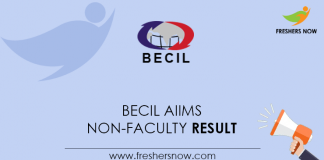 BECIL-AIIMS-Non-Faculty-Result