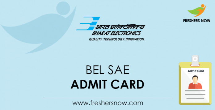 BEL SAE Admit Card