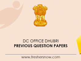DC Office Dhubri Previous Question Papers