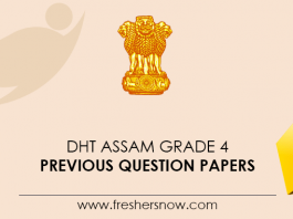 DHT Assam Grade 4 Previous Question Papers