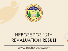 HPBOSE SOS 12th Revaluation Result