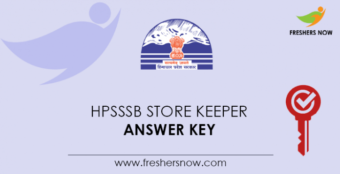 HPSSSB Store Keeper Answer Key