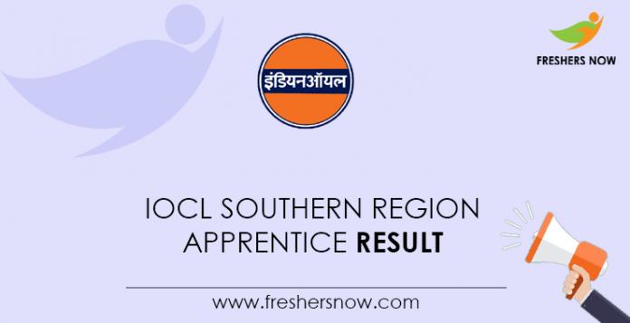 IOCL Southern Region Apprentice Result