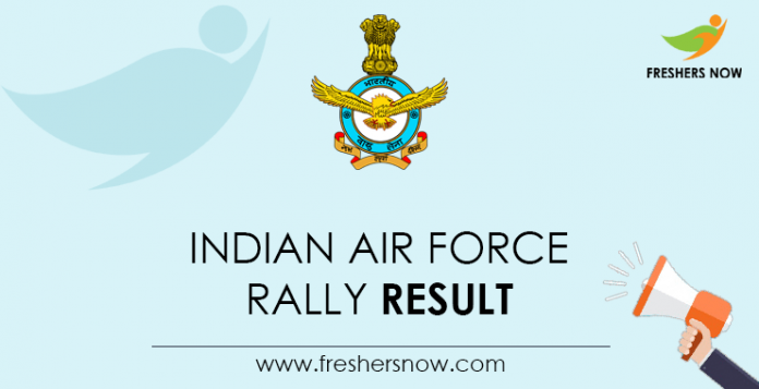 Indian Air Force Rally Result